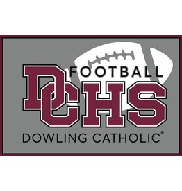 Accessories Dowling Catholic Car Decal Football