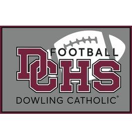 Accessories Dowling Catholic Car Decal Football