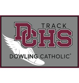 Under Armour Dowling Catholic Car Decal Track