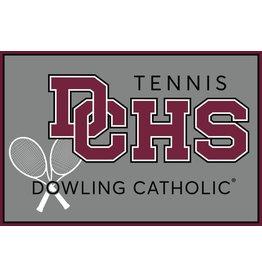 Accessories Dowling Catholic Car Decal Tennis