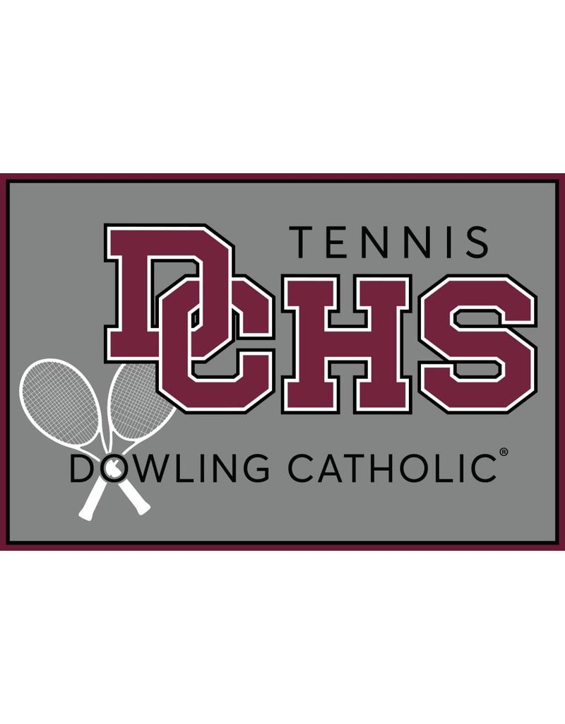 Accessories Dowling Catholic Car Decal Tennis