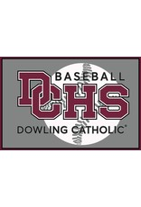 Accessories Dowling Catholic Car Decal Baseball