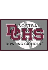 Accessories Dowling Catholic Car Decal Softball