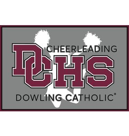 Accessories Dowling Catholic Car Decal Cheerleading
