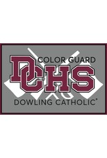 Accessories Dowling Catholic Car Decal Color Guard