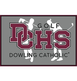 Accessories Dowling Catholic Car Decal Golf