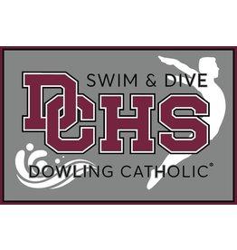 Accessories Dowling Catholic Car Decal Swim & Dive