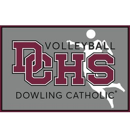Accessories Dowling Catholic Car Decal Volleyball