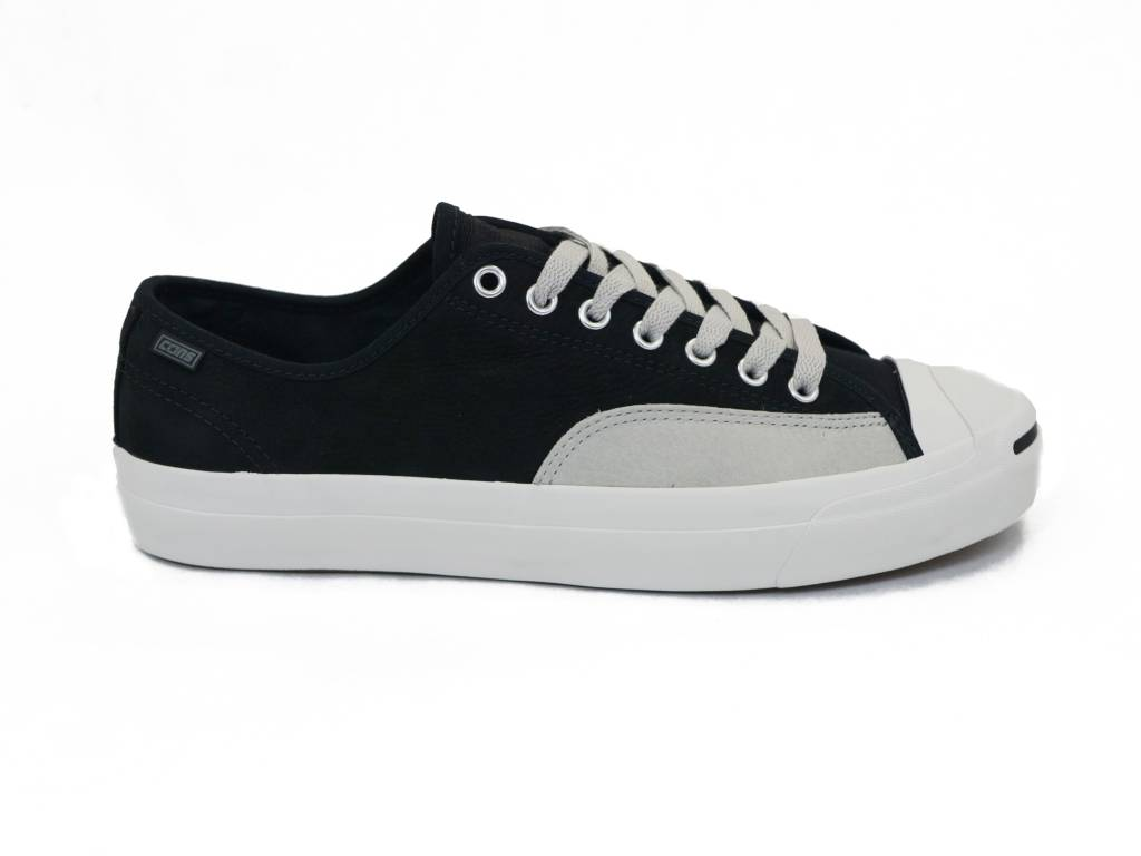 802a75064799 CONVERSE JACK PURCELL PRO OX BLACK   PALE GREY - Bluetile Skateboards