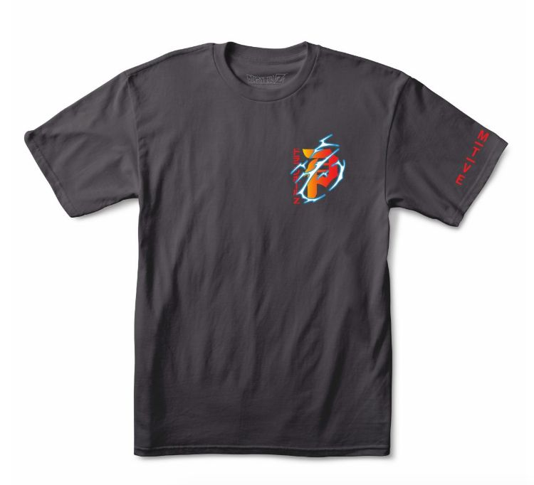 "PRIMITIVE PRIMITIVE X DRAGONBALL Z DIRTY ""P"" TEE CHARCOAL"
