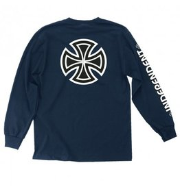 INDEPENDENT INDEPENDENT BAR/CROSS LS NAVY