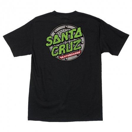 SANTA CRUZ SANTA CRUZ TMNT SEWER DOT T-SHIRT BLACK