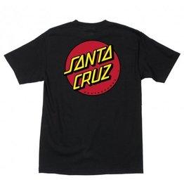 SANTA CRUZ SANTA CRUZ CLASSIC DOT T-SHIRT BLACK