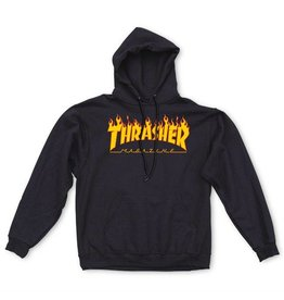 THRASHER THRASHER FLAME LOGO HOODIE BLACK