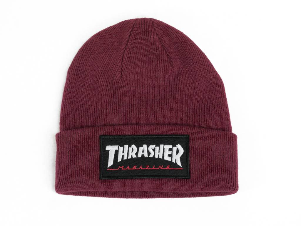THRASHER THRASHER LOGO PATCH BEANIE RED