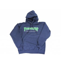 THRASHER THRASHER OUTLINED LOGO HOODIE NAVY