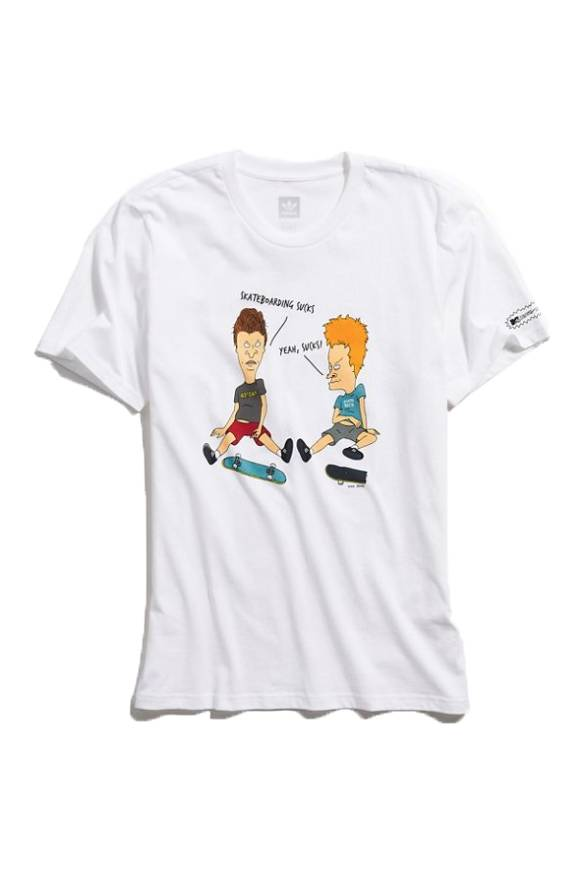 ADIDAS ADIDAS BEAVIS & BUTTHEAD SUCKS T-SHIRT WHITE