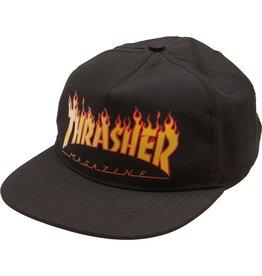 THRASHER THRASHER FLAME SNAPBACK BLACK