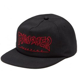 THRASHER THRASHER CHINA BANKS SNAPBACK BLACK