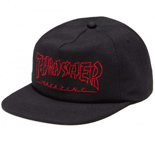 6c2f1c861ad4d THRASHER CHINA BANKS SNAPBACK BLACK - Bluetile Skateboards