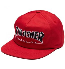 THRASHER THRASHER OUTLINED SNAPBACK RED