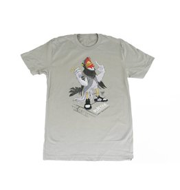 BLUETILE BLUETILE STAPLE PANDA PIGEON T-SHIRT LIGHT GREY