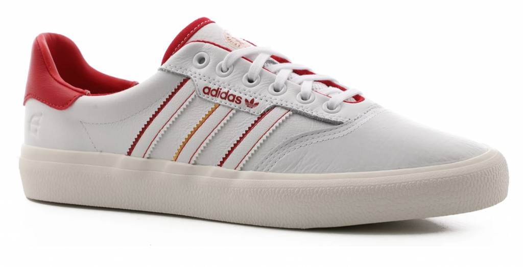 best sneakers 69362 8f513 ADIDAS 3MC EVISEN WHITESCARLETGOLD - Bluetile Skateboards