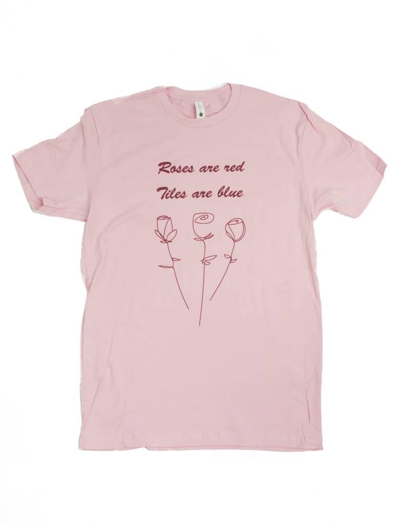 BLUETILE BLUETILE VINTAGE ROSES T-SHIRT PINK
