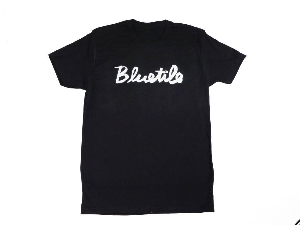 BLUETILE BLUETILE CURSIVE T-SHIRT BLACK / WHITE