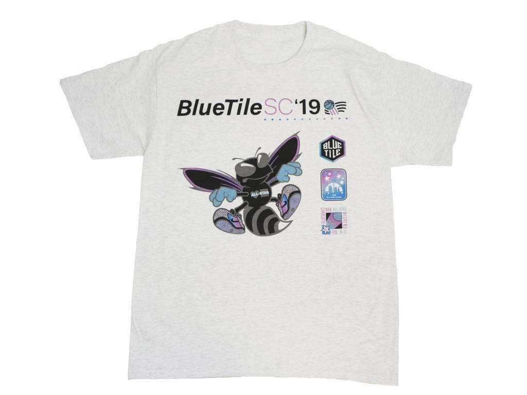 BLUETILE BLUETILE BLACK HORNET T-SHIRT GREY