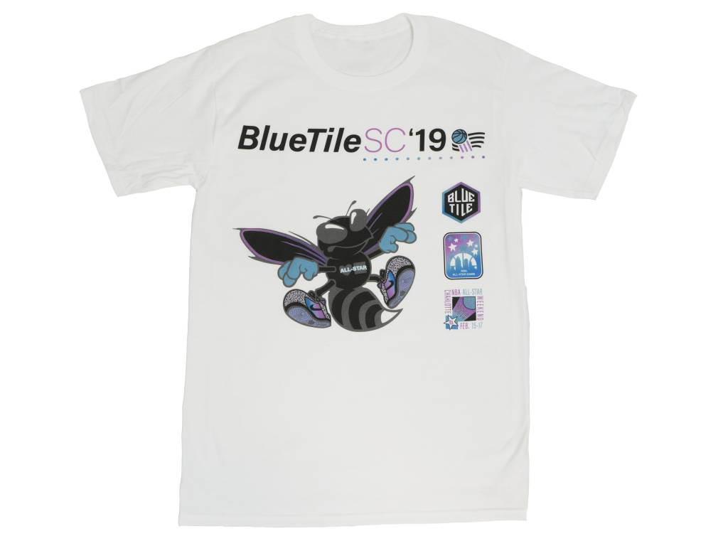 BLUETILE BLUETILE BLACK HORNET T-SHIRT WHITE