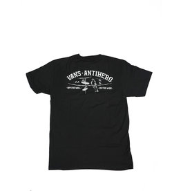 VANS VANS X ANTI HERO ON THE WIRE T-SHIRT BLACK