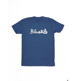 BLUETILE BLUETILE CURSIVE T-SHIRT BLUE BELL / WHITE