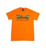 THRASHER THRASHER TIKI LOGO T-SHIRT SAFETY ORANGE