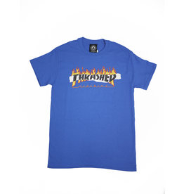 THRASHER THRASHER RIPPED LOGO T-SHIRT ROYAL