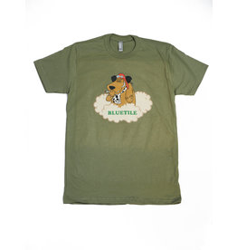 BLUETILE BLUETILE DOG WALKER T-SHIRT LIGHT OLIVE