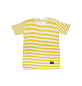 BLUETILE BLUETILE SURPLUS STRIPED TEE YELLOW / WHITE