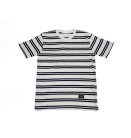 BLUETILE BLUETILE SURPLUS STRIPED TEE WHITE / NAVY