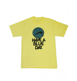BLUETILE BLUETILE HAVE A BLUE DAY T-SHIRT YELLOW