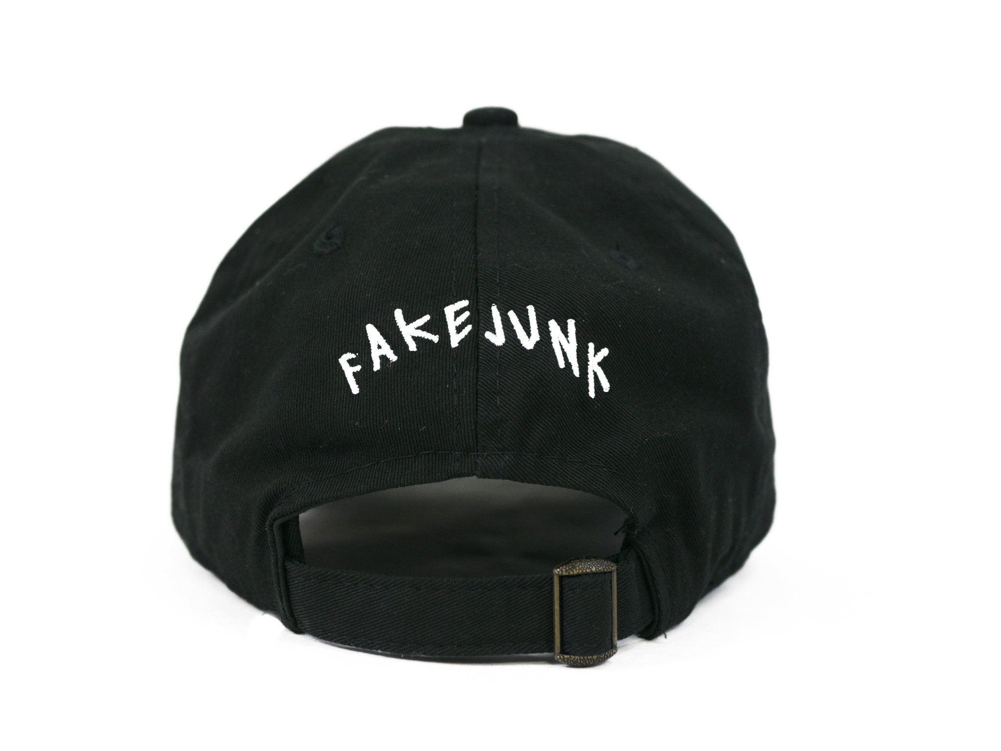 67664b2fd6c FAKE JUNK FAKE JUNK LOGO DAD HAT BLACK