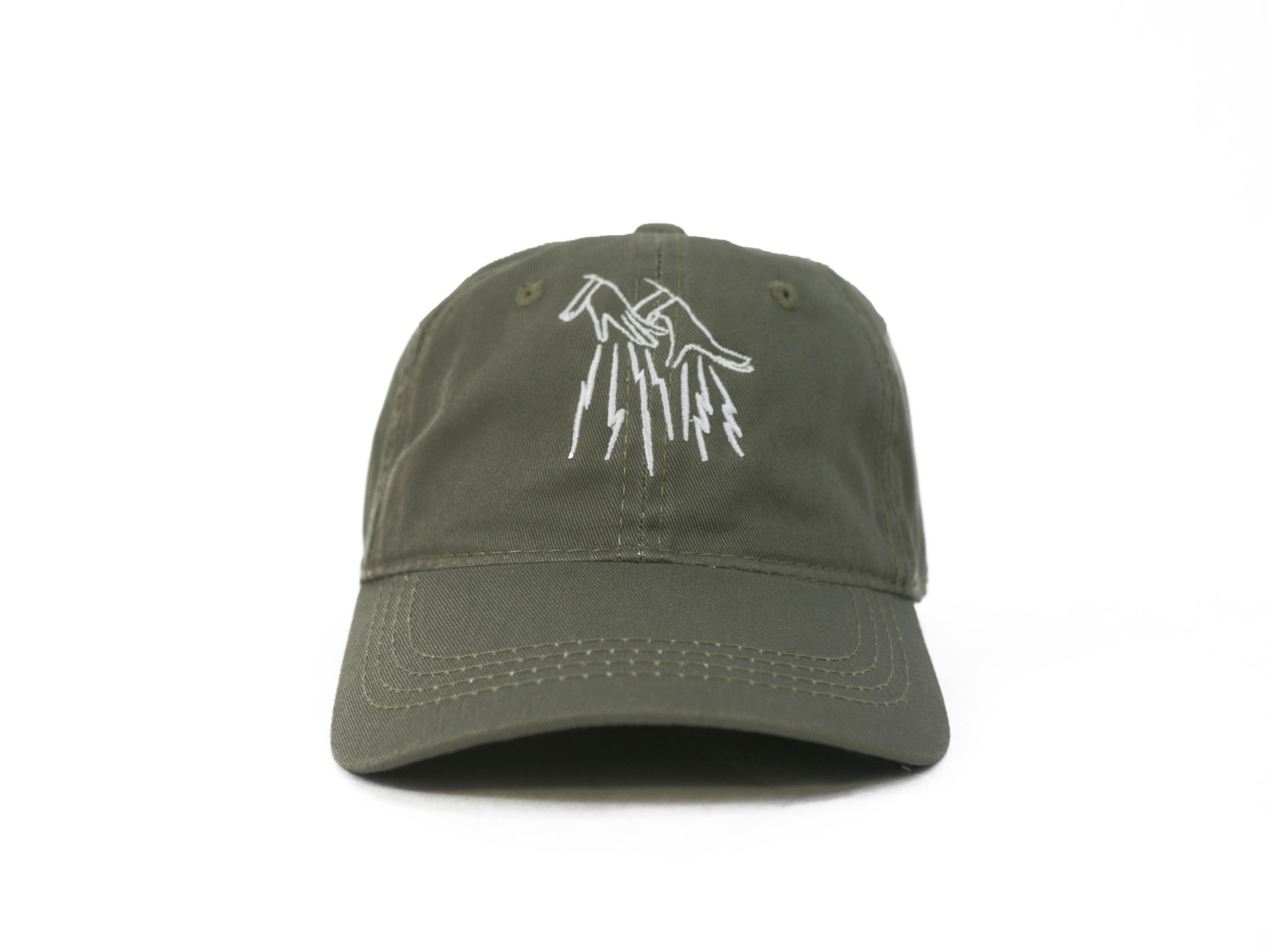 73066e305c5 FAKE JUNK LOGO DAD HAT OLIVE