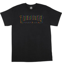 THRASHER THRASHER SPECTRUM LOGO T-SHIRT BLACK