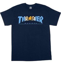 THRASHER THRASHER ARGENTINA LOGO T-SHIRT NAVY