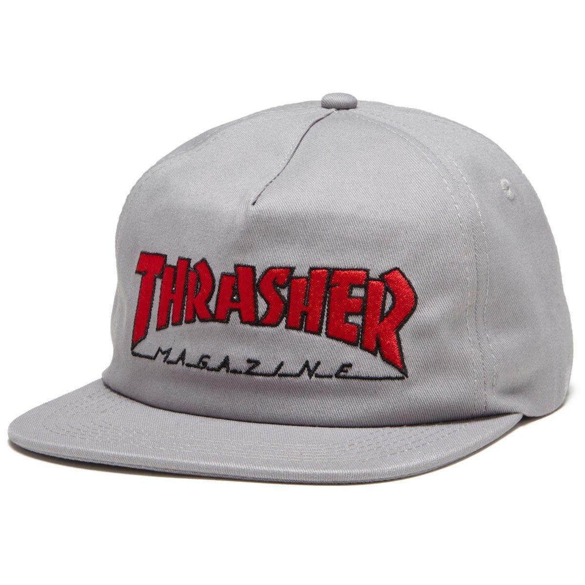 THRASHER THRASHER OUTLINED SNAPBACK GRAY