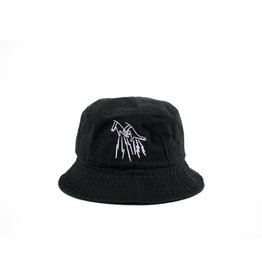 FAKE JUNK FAKE JUNK LOGO BUCKET HAT BLACK