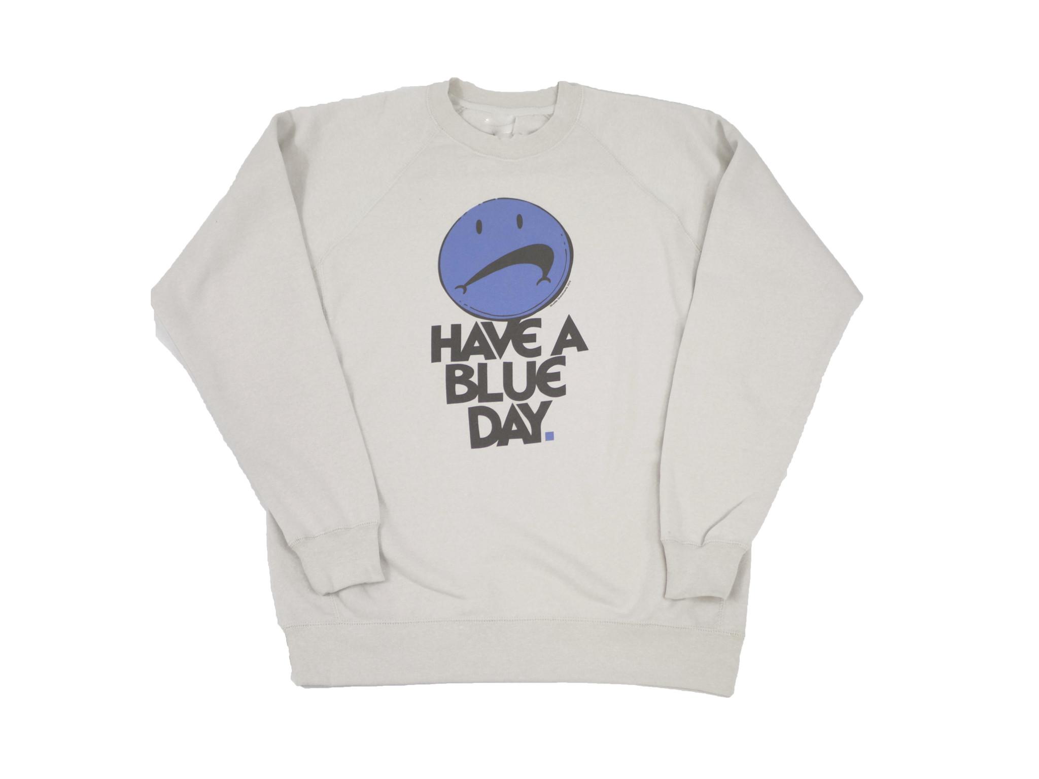 BLUETILE BLUETILE HAVE A BLUE DAY CREWNECK STONE HEATHER
