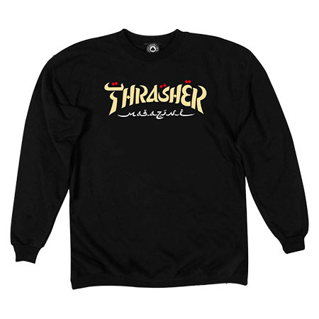 THRASHER THRASHER CALLIGRAPHY CREWNECK BLACK