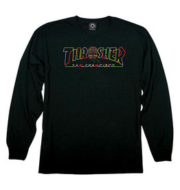 THRASHER THRASHER CABLE CAR LONG SLEEVE BLACK