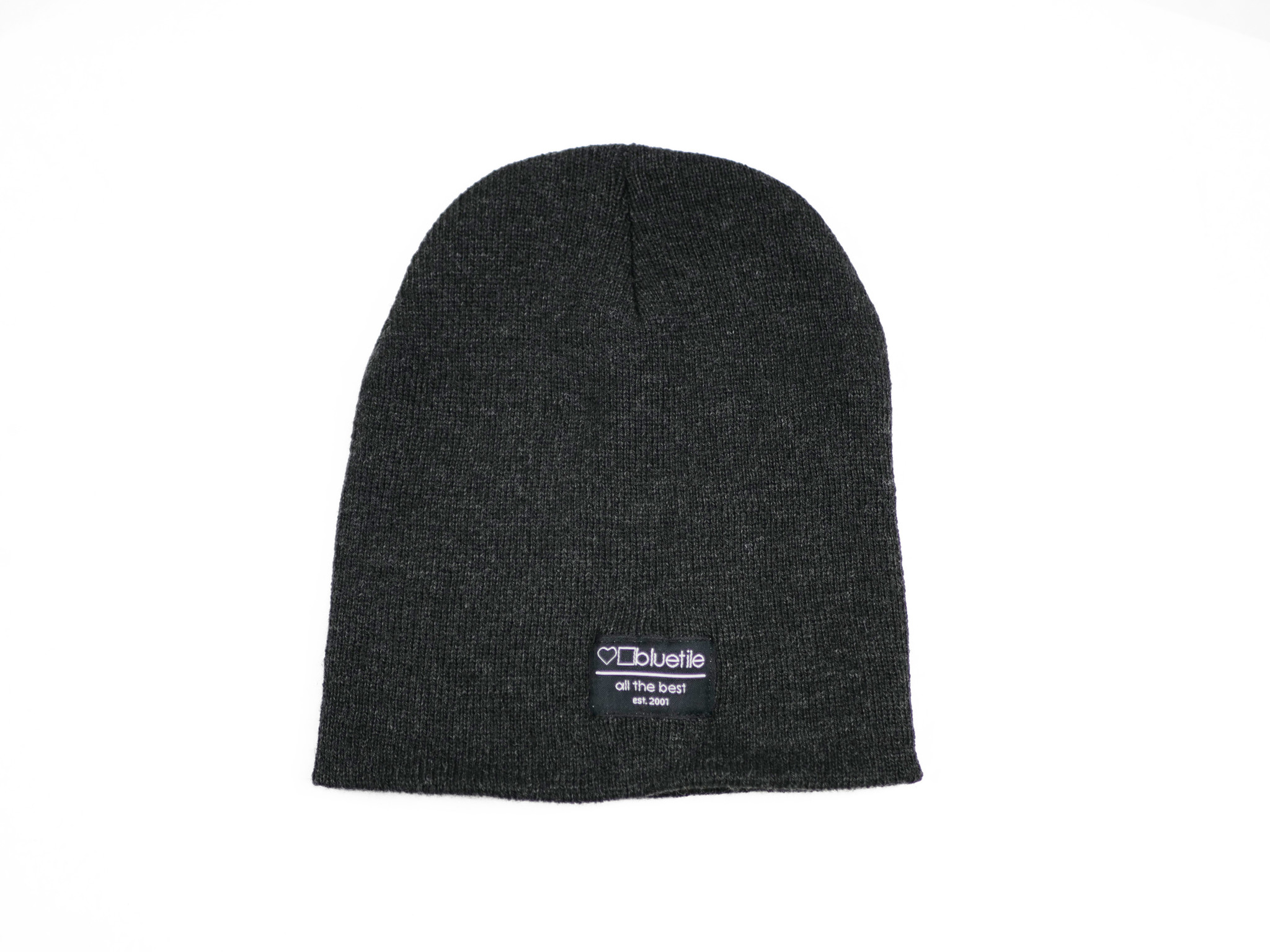 BLUETILE BLUETILE SURPLUS UNCUFF BEANIE DARK GREY