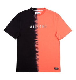 WELCOME WELCOME CHIMERA DIP-DYED KNIT T-SHIRT CORAL